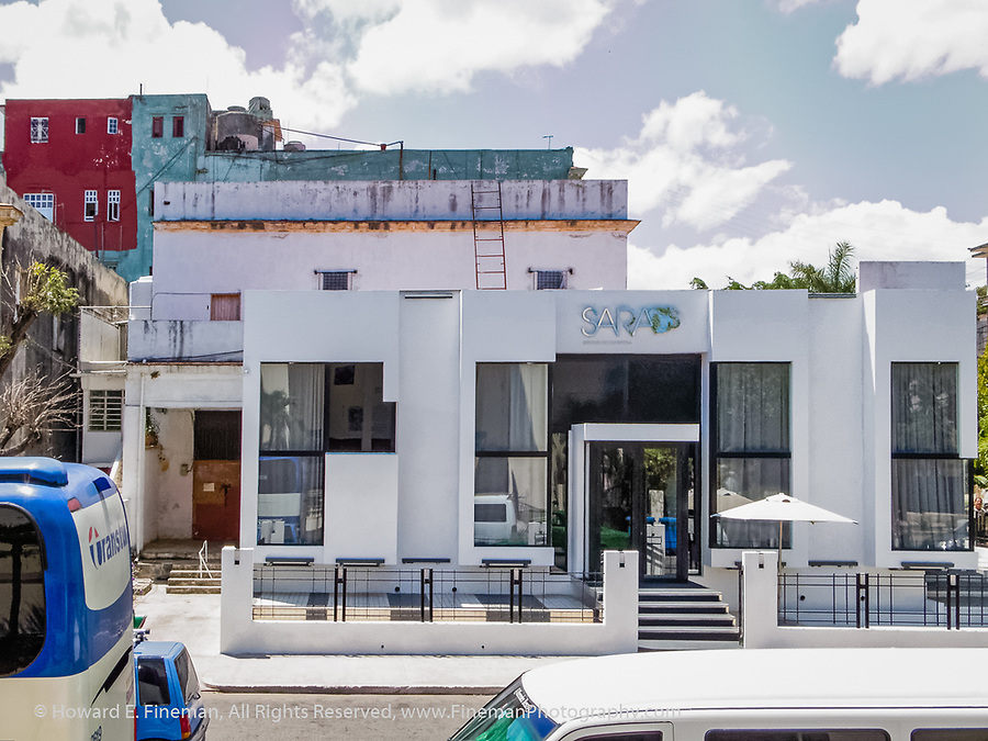 Modern restaurant in Vedado neighborhood of Havana