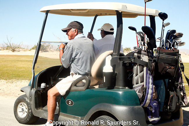 Man goes out to enjoy a great sunny day of golf in Mexico