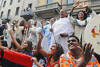 - big parade and celebration day for assignment  of Universal Exhibition 2015 to Milan city; delegation of foreign immigrants.....- grande parata e festa per l'assegnazione dell'Esposizione Universale del 2015 alla città di Milano; delegazione di stranieri immigrati