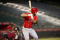 AZL Angels shortstop Nonie Williams (27) at bat against the AZL Diamondbacks on August 20, 2017 at Diablo Stadium in Tempe, Arizona. AZL Angels defeated the AZL Diamondbacks 19-1. (Zachary Lucy/Four Seam Images)