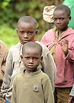 children in the community health workers village.