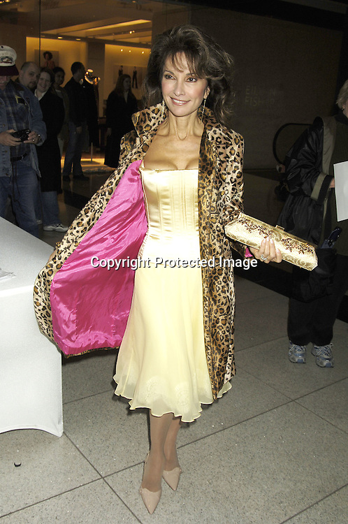 """Susan Lucci in Dolce and Gabbana ..at The Time Warner Center for the Fragrance Week 2005 NYC """" Stars on Stage Event """" on October 22, 2005 . Susan Lucci was interviewed and met some of her fans. She was promoting her new perfumes """" Invitation"""" and """" LaLucci """"...Photo by Robin Platzer, Twin Images.."""