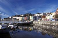 AJ0970, Europe, Republic of Ireland, Ireland, Cobh, Harbor with fishing boats in County Cork.