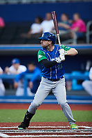 Cole Sturgeon (12) of the Lexington Legends at bat against the High Point Rockers at Truist Point on June 16, 2021, in High Point, North Carolina. The Legends defeated the Rockers 2-1. (Brian Westerholt/Four Seam Images)