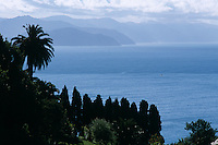 A view from the hills above Portofino across the Ligurian sea