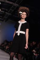 Montreal (QC) CANADA -February 2012 File Photo -Montreal Fashion Week - Annie 50