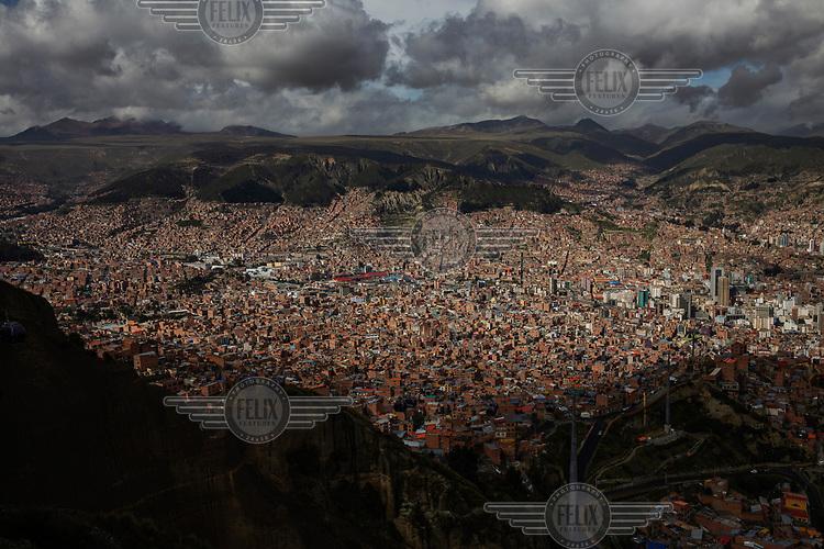 A view over the city of La Paz.