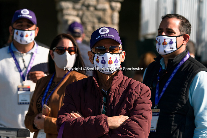 November 6, 2020: Attendees watch Future Stars Friday races from the grandstands at Keeneland Racetrack in Lexington, Kentucky, on Friday, November 6, 2020. Scott Serio/Eclipse Sportswire/Breeders Cup/CSM