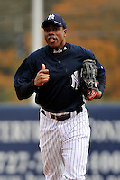 Feb 24, 2010; Tampa, FL, USA; New York Yankees  outfielder Curtis Granderson (14) during  team workout at George M. Steinbrenner Field. Mandatory Credit: Tomasso De Rosa/Four Seam Images