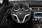 Car pictures of steering wheel view of a 2015 Chevrolet Camaro 2LT 2 Door Convertible Steering Wheel
