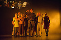 """London, UK. 12.09.2014. Sadler's Wells presents the Elixir Festival's """" KnowBody: a lifetime of experiences"""". Picture shows:  IN YOUR ROOMS (restaged except) by Hofesh Shechter with Hofesh Shechter dancers: Phil Hulford, Sam Coren & James Finnemore and The Company of Elders dancers: Sandie Barwick, Genia Browning, Tim Coldron, Sheila Dickie, Christopher Dunham, Betsy Field, Sybil Fox, Almeric Johnson, Linda Lewcock, Catriona Maccoli, Geoff McGarry, Chris Morgan, Damien Murphy, Mary O'Mahoney, Eve Pearce, Cecil Rowe, Jeanette White, Pam Zinkin. Photograph © Jane Hobson."""