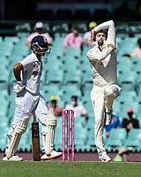 9th January 2021; Sydney Cricket Ground, Sydney, New South Wales, Australia; International Test Cricket, Third Test Day Three, Australia versus India; Nathan Lyon of Australia bowling