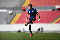 GUADALAJARA, MEXICO - MARCH 18: Sam Vines #13 of the United States traps the ball during a game between Costa Rica and USMNT U-23 at Estadio Jalisco on March 18, 2021 in Guadalajara, Mexico.