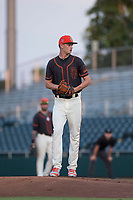 AZL Giants Black starting pitcher Conner Nurse (31) prepares to deliver a pitch during an Arizona League game against the AZL Royals at Scottsdale Stadium on August 7, 2018 in Scottsdale, Arizona. The AZL Giants Black defeated the AZL Royals by a score of 2-1. (Zachary Lucy/Four Seam Images)
