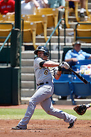 Luis Rodriguez #6 of the Salt Lake Bees bats against the Las Vegas 51s at Cashman Field on May 27, 2013 in Las Vegas, Nevada. Las Vegas defeated Salt Lake, 9-7. (Larry Goren/Four Seam Images)