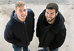 St Johnstone duo Richie Foster and David Wotherspoon pictured at McDiarmid Park today after both signing new contracts to keep them at the club…30.01.17<br />Picture by Graeme Hart.<br />Copyright Perthshire Picture Agency<br />Tel: 01738 623350  Mobile: 07990 594431
