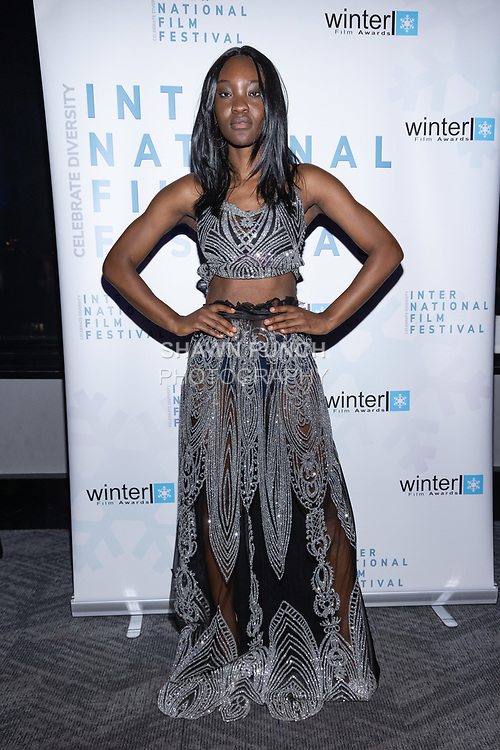 Model Selear attends the 10th Annual Winter Film Awards International Film Festival Gala on October 2, 2021 at 230 Fift Avenue in New York City.