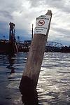 Hazardous waste site, Willamette River, Portland, Oregon State, Pacific Northwest, USA,.
