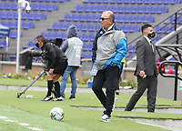 PASTO - COLOMBIA,20-09-2020:Alberto Suarez director técnico de Jaguares de Córdoba.Deportivo Pasto y Jaguares de Córdoba en partido por la fecha 9 de la Liga BetPlay DIMAYOR I 2020 jugado en el estadio Estadio La Libertad de la ciudad de Pasto. /Alberto Suarez coach of Jaguares of Cordoba. Deportivo Pasto and Jaguares of Cordoba in match for the date 9 BetPlay DIMAYOR League I 2020 played at La Libertad stadium in Pasto city. Photo: VizzorImage / Leonardo Castro / Cont