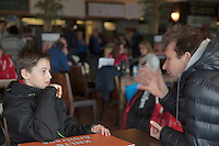 Rotterdam, The Netherlands, March 20, 2016,  TV Victoria, NOJK 14/18 years, coach pupil conversation<br /> Photo: Tennisimages/Henk Koster