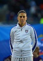 Lorient, France. - Sunday, February 8, 2015: Carli Lloyd (10) of the USWNT. France defeated the USWNT 2-0 during an international friendly at the Stade du Moustoir.