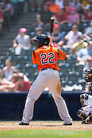 Quincy Latimore (22) of the Bowie Baysox at bat against the Richmond Flying Squirrels at The Diamond on May 24, 2015 in Richmond, Virginia.  The Flying Squirrels defeated the Baysox 5-2.  (Brian Westerholt/Four Seam Images)
