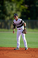 Core Jackson (4) during the WWBA World Championship at Terry Park on October 11, 2020 in Fort Myers, Florida.  Core Jackson, a resident of Wyoming, Ontario, Californianada who attends Lambton Central High School, is committed to Nebraska.  (Mike Janes/Four Seam Images)