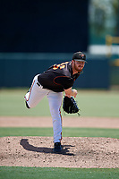 GCL Orioles pitcher Clayton McGinness (36) during a Gulf Coast League game against the GCL Red Sox on July 29, 2019 at Ed Smith Stadium in Sarasota, Florida.  GCL Red Sox defeated the GCL Pirates 9-1.  (Mike Janes/Four Seam Images)