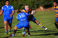 Action from the Counties championship (senior 3) club rugby match between Patumahoe and Tuakau at Patumahoe RFC in Patumahoe, New Zealand on Saturday, 3 July 2021. Photo: Dave Lintott / lintottphoto.co.nz