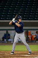 AZL Brewers first baseman Pat McInerney (62) bats during a game against the AZL Cubs on August 1, 2017 at Sloan Park in Mesa, Arizona. Brewers defeated the Cubs 5-4. (Zachary Lucy/Four Seam Images)