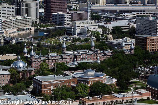 aerial photograph Plant Hall, University of Tampa, Tampa, Florida