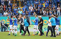 Lilien feiern den Heimsieg - 28.04.2018: SV Darmstadt 98 vs. 1. FC Union Berlin, Stadion am Boellenfalltor, 32. Spieltag 2. Bundesliga