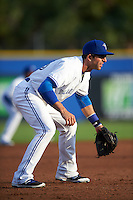 Dunedin Blue Jays third baseman Jason Leblebijian (26) during a game against the Palm Beach Cardinals on April 15, 2016 at Florida Auto Exchange Stadium in Dunedin, Florida.  Dunedin defeated Palm Beach 8-7 in ten innings.  (Mike Janes/Four Seam Images)