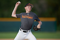 William Thorp (57), from Fort Myers, Florida, while playing for the Giants during the Baseball Factory Pirate City Christmas Camp & Tournament on December 28, 2017 at Pirate City in Bradenton, Florida.  (Mike Janes/Four Seam Images)