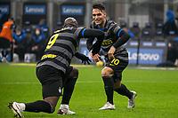 inter-napoli - milano 16 dicembre 2020 - Campionato Serie A 12° giornata - nella foto: Martinez e Lukaku