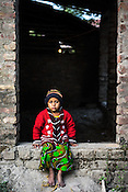 5 year old Rukhsar Khatoon poses for a photo in her house in Shahpara village in Panchal block of Howrah district in West Bengal, India.<br /> Rukhsar is India's last child in India paralysed by polio.