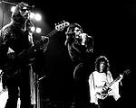 Queen 1974 John Deacon, Freddie Mercury and Brian May.© Chris Walter.