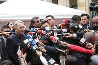 BOGOTA -COLOMBIA. 15-06-2014. Alvaro Uribe. Elecciones para presidente de la Republica de Colombia segunda vuelta periodos 2014-2018.   /   Elections for President of the Republic of Colombia from 2014 to 2018 periods. Photo: VizzorImage/ Felipe Caicedo
