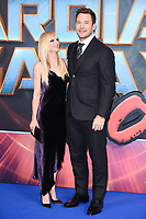"Anna Farris and Chris Pratt<br /> at the ""Guardians of the Galaxy 2"" premiere held at the Hammersmith Apollo, London. <br /> <br /> <br /> ©Ash Knotek  D3257  24/04/2017"