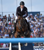 MIAMI BEACH, FL - APRIL 15: Jack Towell at the Longines Global Champions Tour stop in Miami Beach. The winner was Jerome Guery (BE), second place was Alberto Zorzi (IT) and third place was Nicola Philippaerts (BE). Also riding but did not make the finals was Georgina Bloomberg, Jessica Rae Springsteen and Jennifer Gates on April 15, 2017 in Miami Beach, Florida.<br /> <br /> People:  Jack Towell
