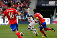 Harrison, NJ - Friday Sept. 01, 2017: Darlington Nagbe, Bryan Ruiz during a 2017 FIFA World Cup Qualifier between the United States (USA) and Costa Rica (CRC) at Red Bull Arena.