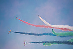 The Al Fursan aerobatic team perform a flying exhibition during the Dubai Air Show on 9 November 2015 at the outskirts of Dubai, United Arab States. Photo by Victor Fraile / Power Sport Images