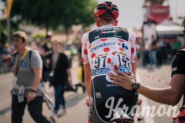 Polka Dot Jersey / KOM leader Tom Skujins (LAT/Trek Segafredo) stays in dots some days longer<br /> <br /> Stage 7: Fougères > Chartres (231km)<br /> <br /> 105th Tour de France 2018<br /> ©kramon