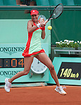 Ana Ivanovic (SRB) loses at Roland Garros in Paris, France on June 1, 2012