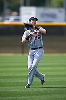 Detroit Tigers Cole Bauml (26) during practice before a minor league Spring Training game against the New York Yankees on March 22, 2017 at the Yankees Complex in Tampa, Florida.  (Mike Janes/Four Seam Images)