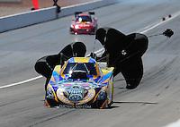 Apr. 2, 2011; Las Vegas, NV, USA: NHRA funny car driver Jim Head during qualifying for the Summitracing.com Nationals at The Strip in Las Vegas. Mandatory Credit: Mark J. Rebilas-