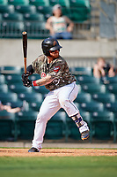 Arkansas Travelers designated hitter Tyler Marlette (30) at bat during a game against the Frisco RoughRiders on May 28, 2017 at Dickey-Stephens Park in Little Rock, Arkansas.  Arkansas defeated Frisco 17-3.  (Mike Janes/Four Seam Images)