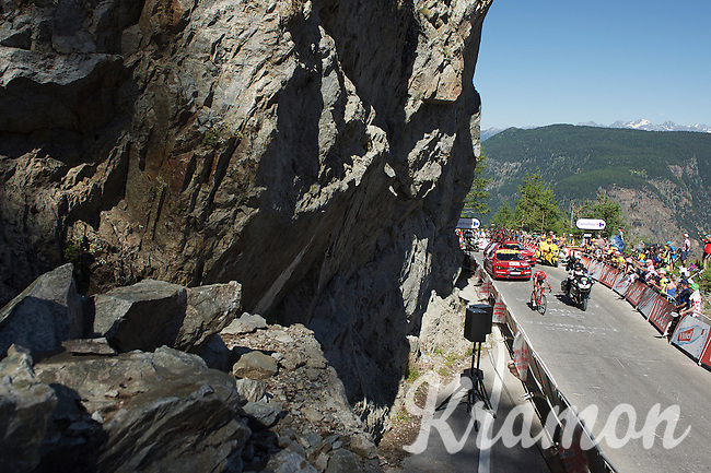Ilnur Zakarin (RUS/Katusha) on his way to his first Tour stage win in his very first Tour de France<br /> <br /> stage 17: Bern (SUI) - Finhaut-Emosson (SUI) 184.5km<br /> 103rd Tour de France 2016