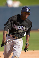 March 13, 2010 - Colorado Rockies' Jonathan Herrera #18 during a spring training game against the Milwaukee Brewers at Maryvale Baseball Park in Phoenix, Arizona.