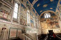 Gli affreschi di Giotto all'interno della Cappella degli Scrovegni a Padova.<br /> Interior of the Scrovegni Chapel frescoed by Giotto, in Padua.<br /> UPDATE IMAGES PRESS/Riccardo De Luca